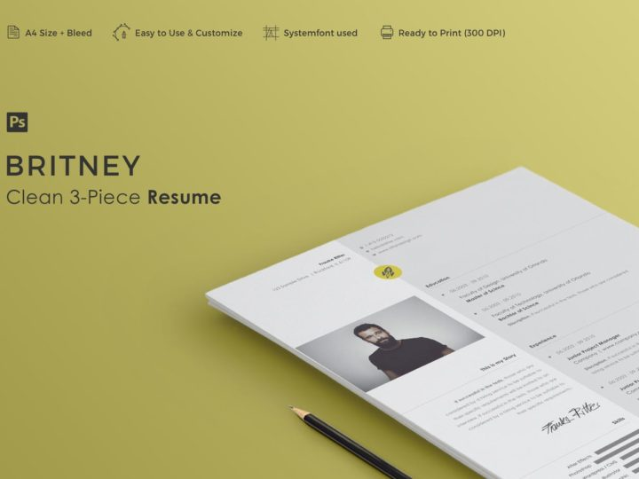 resume template Britney