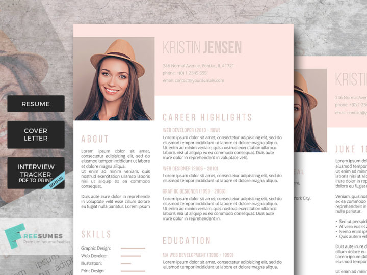 sugar and spice resume design