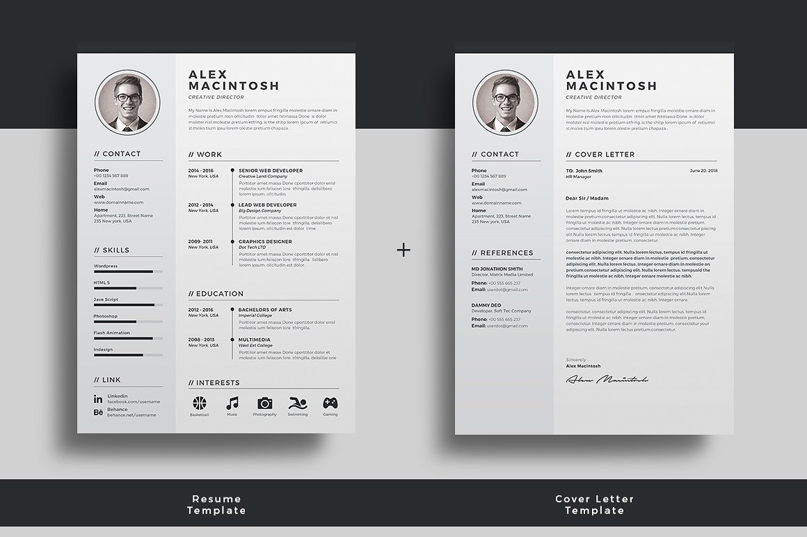 illustrator resume templates
