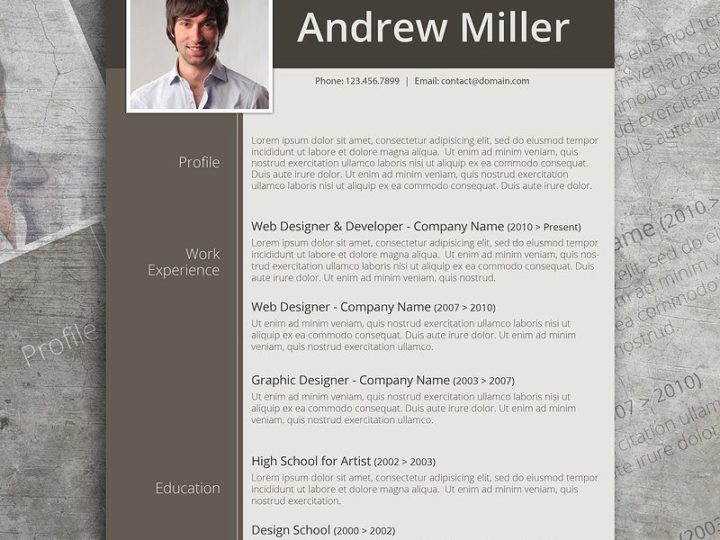 Premium Photoshop Resume Templates